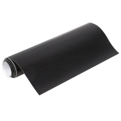 Elistelle 5D Carbon Fibre Film Sheet Wrap Roll Auto Car DIY Decor Sticker,Black,10*150cm