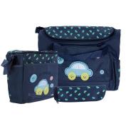 Caveen Nappy Bag Nursery Bag Large Mummy Handbag Lovely Baby Nappy Nappy Bag Changing Set with Nappy Mat Dark Blue