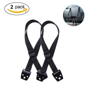 Furniture Straps - Aieve Anti-Tip TV / Furniture Straps Heavy Duty Strap and All Metal Parts,Baby Proof Safety Straps with Long VESA Screws to Fit Latest TVs