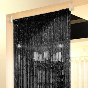 Curtain Door Window Panel Room Decorative Divider Curtain Perfect as Fly Screen 90x200cm