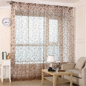 Yosemite 1Pc Polyester Floral Window Curtain