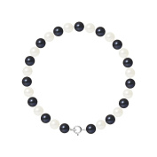 Pearls & Colours Women 925 Silver Silver Round Pearl Strand Bracelet - AM17-BRA-AG-R67-AR-WHBL