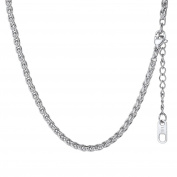 Wheat Chain Necklace For Men Women Jewellery , 316L Stainless Steel, Gold Plated, Black Colour