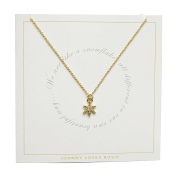 Johnny Loves Rosie Snowflake Gift Card Women Chain Necklace of Length 48cm 5055632017914