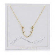 Johnny Loves Rosie Antler Gift Card Women Chain Necklace of Length 48cm 5055632017907