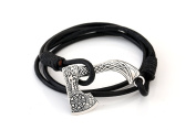 Adjustable Viking Knot Punk Wax Cord Handmade Bracelet With the Cool Pendant AXE Design Bracelet