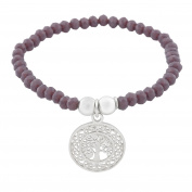 Cordoba Jewels | Bracelet in 925 Sterling Silver with Tree of Life Design Amethyst