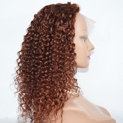 MZP 25cm - 60cm Synthetic Wigs Kinky Curly Lace Front Hair Wig Best Selling for Women , strawberry blonde