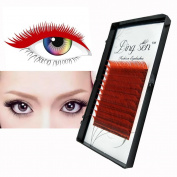 DRESS® False Eyelash Extensions Makeup Fibre Eye Lashes 12 Rows Fitted Red 4 Sizes Choice