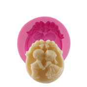 BEAUTY'S CASTLE DIY 3D Baby Lover Cake Silicone Mould,Handmade Soap Mould,Cake Mould Decorating,Fondant Baking Tool