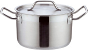 Home & Style 100863 Casserole Pot, Stainless Steel, Silver, 16 x 16 x 10 cm