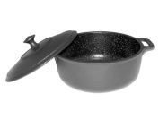 PaellaWorld 4406 Pan Cast-Iron with Lid 24 x 10 cm