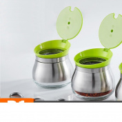 Stainless steel Spice jar Seasoning box Seasoning jars Salt shaker Kitchen [supplies] Tools-A