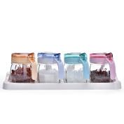 Glass The cruet [with handle] Seasoning jars Seasonning box Seasoning box Salt shaker Kitchen Household use-A