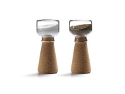 Materia Par Salt & Pepper Shakers, designed by Nendo