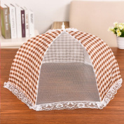 Insulation food cover Dish cover dining table round lace folding antifreeze rice table cover kitchen food cover folding food cover bowl cover Food Domes