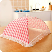 Insulation food cover Encrypted lace rice cover dish cover folded rectangular food cover anti-fly cover Food Domes