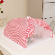 Insulation food cover Dining table cover / cover food cover / folding bottom cover / anti-dust fly flies cockroaches rectangular covered net Food Domes