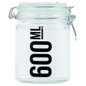 House Doctor Storage Glass Storage Jar with Smoked Glass Top 600