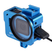 GoPro HERO6 /5 Housing Shell CNC Aluminium Alloy Protective Cage with 52mm UV Lens