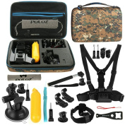 Combo Kits, PULUZ 20 in 1 Accessories Combo Kit with Camouflage EVA Case