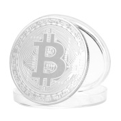 Bitcoin Coin,AmaMary Plated Bitcoin Coin Collectible Gift BITCoin Art Collection Physical