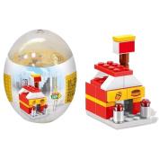 Pu Ran Kids Children Educational Toy DIY Assembly Deformation Eggs Dinosaur Shop Puzzle - Random Style