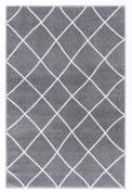 Kids rug Happy Rugs KONTUR silver grey/white 120x180cm