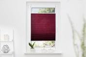 K Home Klemmfix Pleated Blind with Palma 80 x 130 cm, Black-Out + + +