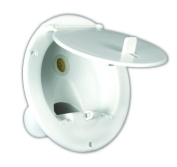 JR Products 370-A-2-A Polar White Lockable Gravity Water Hatch