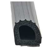 AP Products 018-206 Ribbed Foam D Seal with Hats