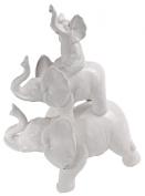 A & B Home White Elephant Figurine