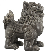 A & B Home Standing Foo Dog Accent, Navy