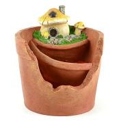 Midwest Design Imports Miniature Garden Mushroom Fairy Pot Statue