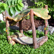 Marshall Home and Garden Leaf Bed for Miniature Garden, Fairy Garden