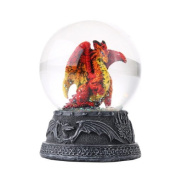 Hyperion Dragon Water Globe with Glitters 80mm Home Decor Gift Collectible