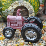 Midwest Design Imports, Inc Red Farm Tractor for Miniature Garden, Fairy Garden