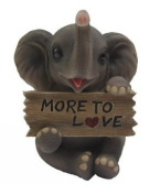 """""""Trunk Of Luck"""" Mini Elephant Figurine With Sign - More To Love"""