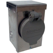 Generac Power Systems 20 amps 1 space 2 circuits 125/250 volts Surface Double Pole Power Inlet Bo