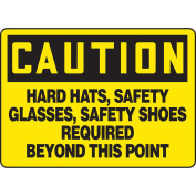ACCUFORM SIGNS Caution Sign, 25cm x 36cm , BK/YEL, AL, ENG MPPE722VA