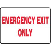 ACCUFORM SIGNS Emergency Exit Fire Sign, 18cm x 25cm , R/WHT MEXT584VP