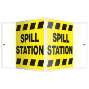 ACCUFORM SIGNS Sign, Spill Station, 15cm x 22cm . PSP379