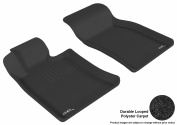 3D MAXpider 2007-2013 MINI Cooper/Cooper-S/Convertible/Clubman Front Row All Weather Floor Liners in Black Carpet