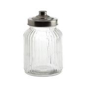 La Porcellana Bianca Tuscania Ribbed Glass Container, 11cm x 18cm