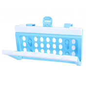 Sukisuki Foldable Plastic Garbage Bag Rack Portable Hanging Trash Shelf Kitchen Rubbish Holder Garbage Storage Cleaning Tool - Blue + White