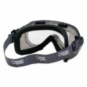 Verdict Goggles, Clear/Grey, Scratch Resistant, Foam Lining, Elastic Strap, Sold As 1 Each