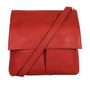 Handbag Italian Leather Vera Pelle Medium Crossbody Shoulder Bag - Amethyst Retail