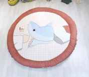 Living Room Carpet Round Thickened Non-slip Mats Four Seasons Children Crawling Rug , 140cm