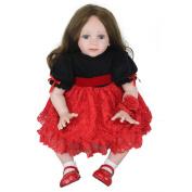Reborn Baby Dolls Handmade Lifelike Realistic Silicone Vinyl Baby Doll Soft Simulation 22 Inch 56 Cm Eyes Open Girl Favourite Gift