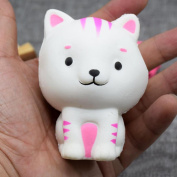 Lenfesh Cute Kitten Squishy Decor Slow Rising Kid Squeeze Gift Toys Fun Kids Kawaii Toy Stress Reliever Decor